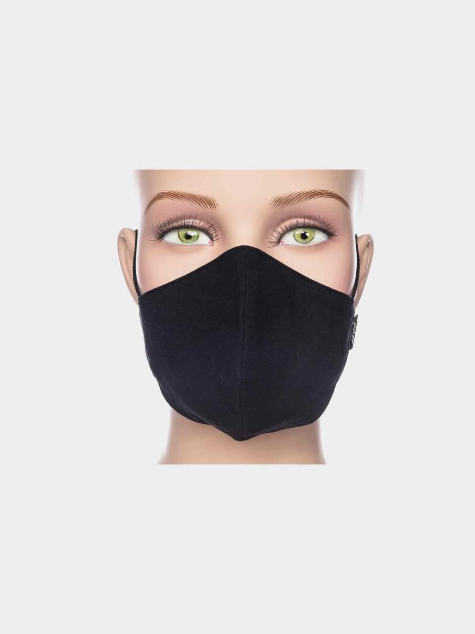 ATO Kindermaske Uni Schwarz aus Bio Baumwolle