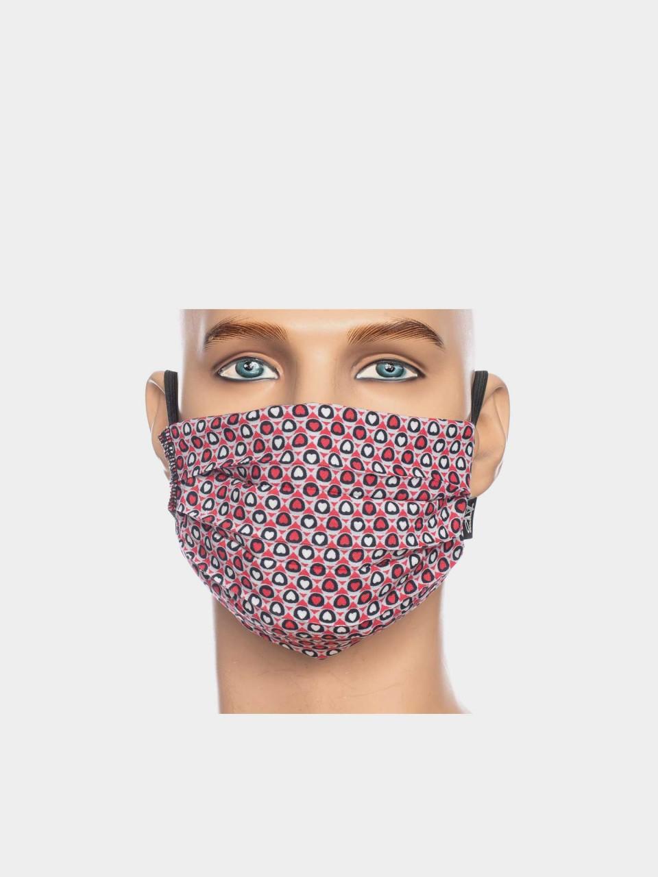 Maske ATO Herzen RD/WHT