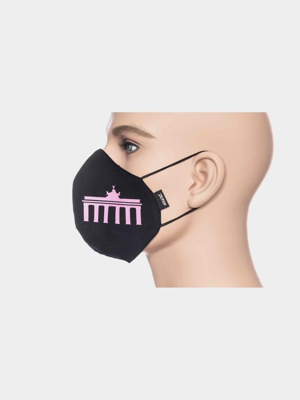 ATO Maske Brandenburger Tor schwarz/pink