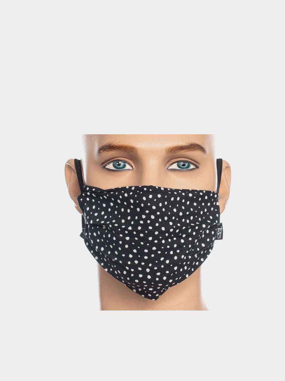 Maske ATO Tupfen BLK/WHT