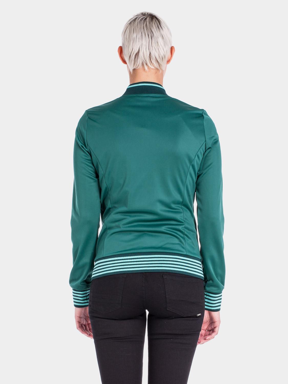 sportliche damen jacke in gr n mit hahngefieder stickerei. Black Bedroom Furniture Sets. Home Design Ideas