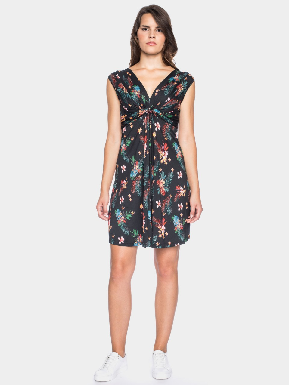 Kleid Antonia CLY/CO 14/024 BLK/MULTI