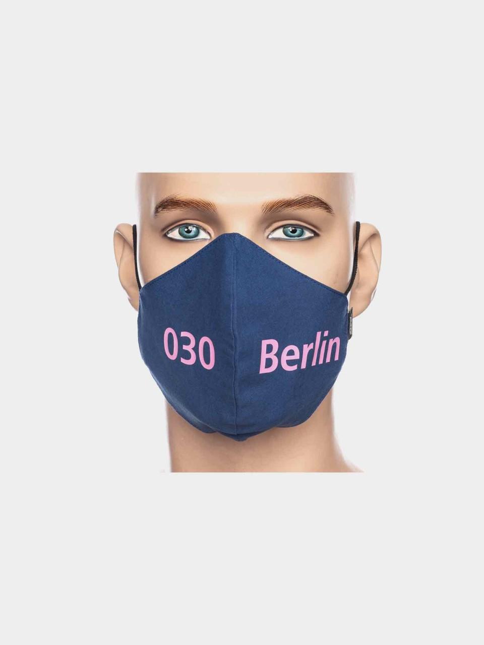 Maske ATO Berlin BW blau/pink