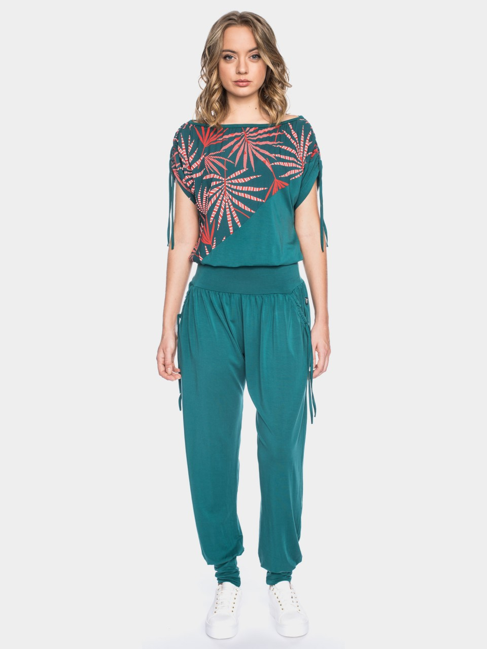 Overall Annemona CV 14/028 TEAL/RED