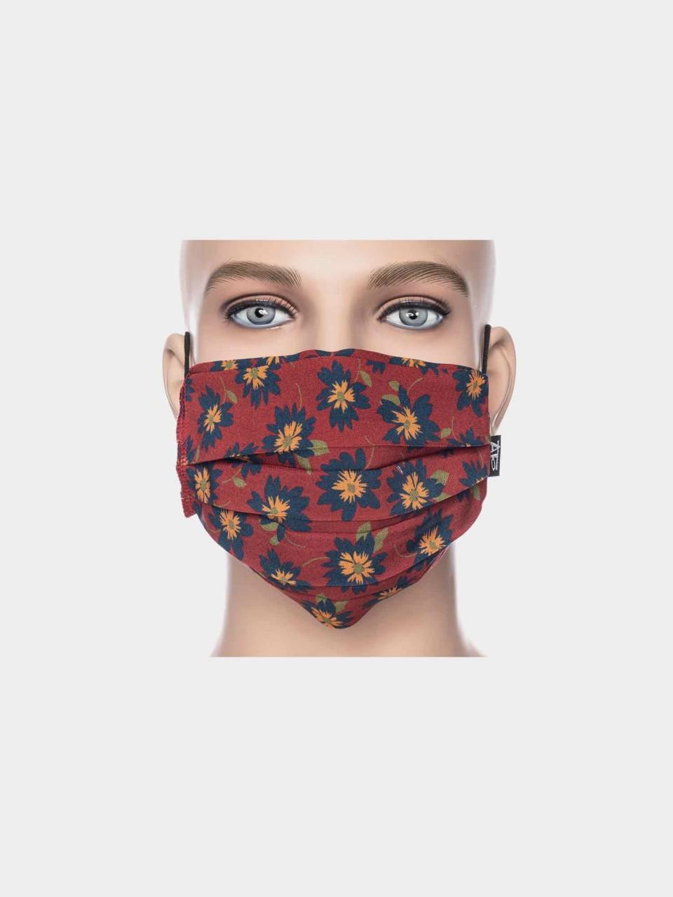 Maske ATO Blume bordeaux