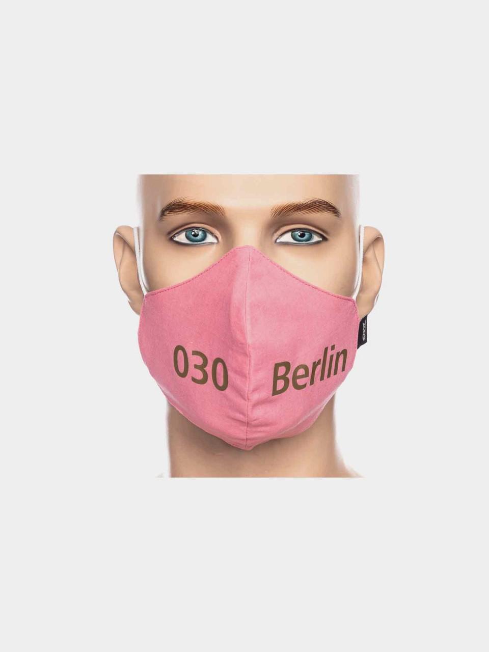 Maske ATO Berlin BW pink/gold