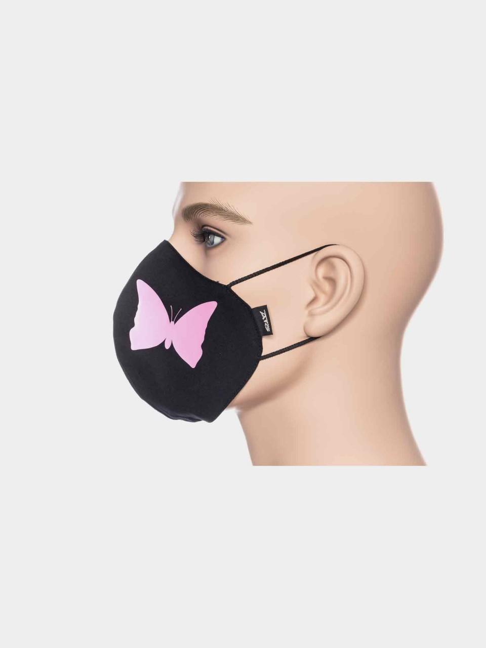 ATO Maske Schmetterling schwarz/pink