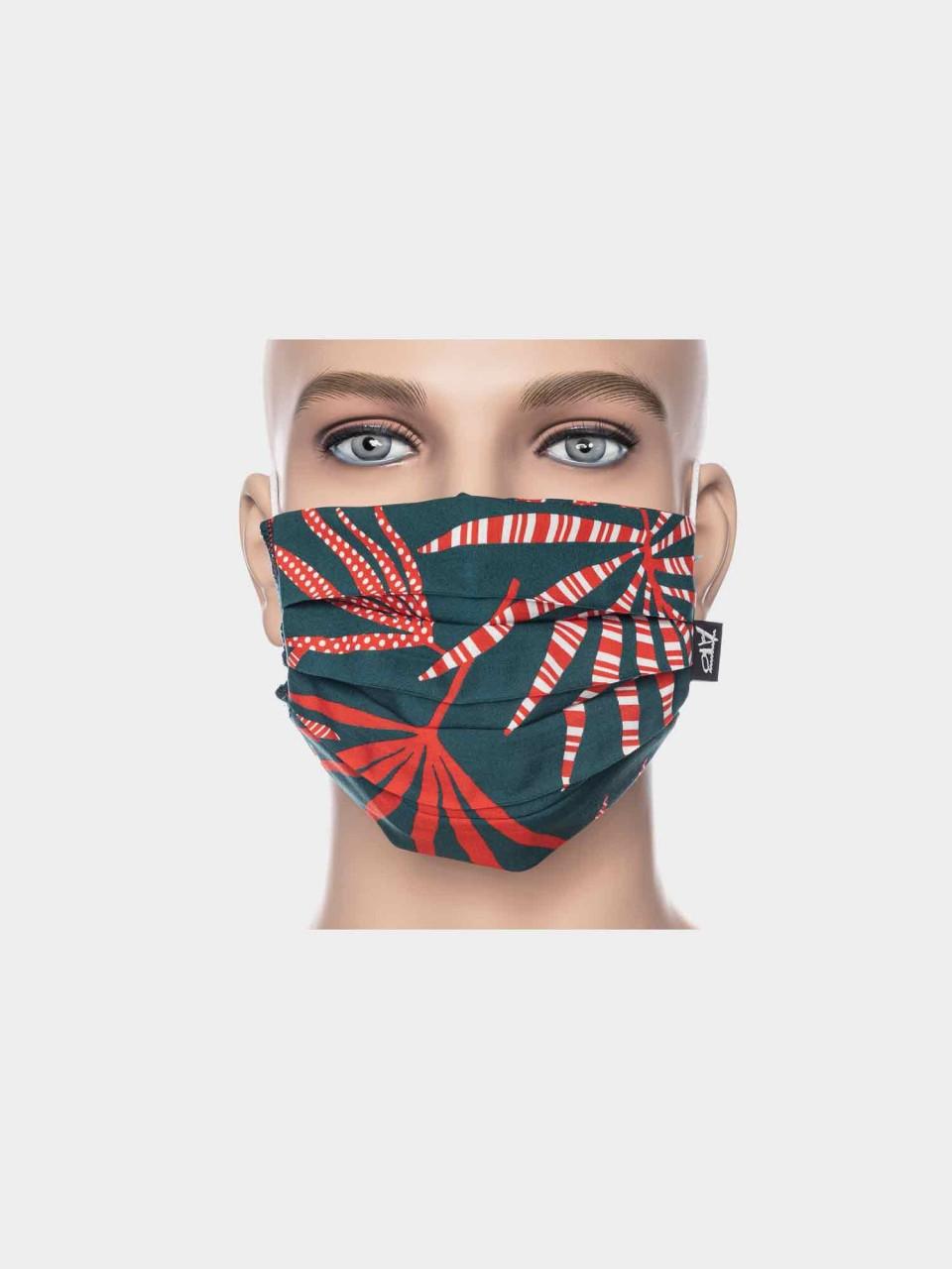 Maske ATO Palm petrol/rot
