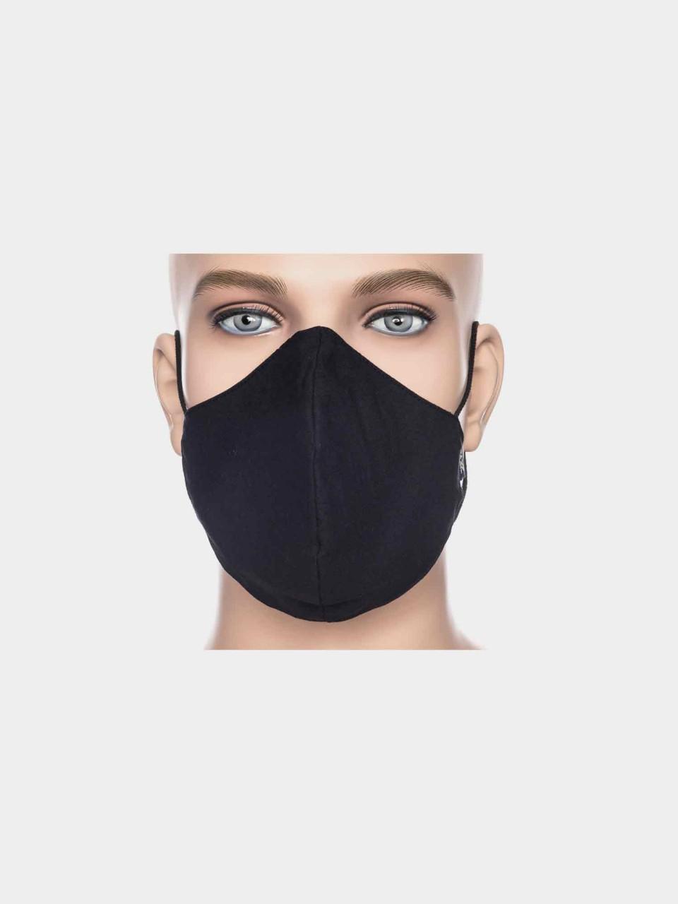 ATO Maske Uni Schwarz aus Bio Baumwolle