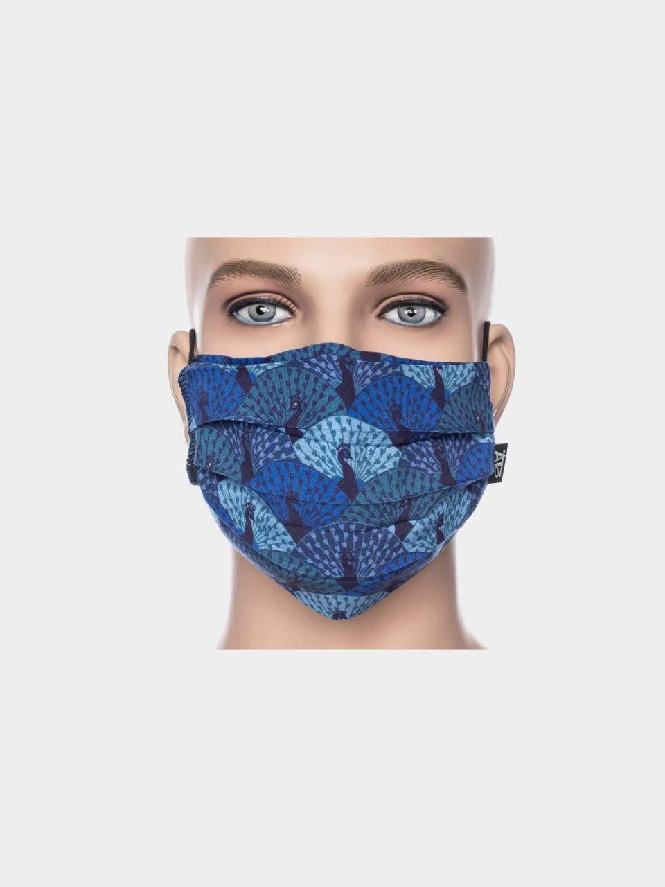 Maske ATO Pfau blau