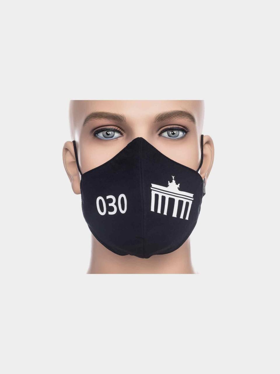 ATO Maske 030 Brandenburger Tor schwarz/weiß