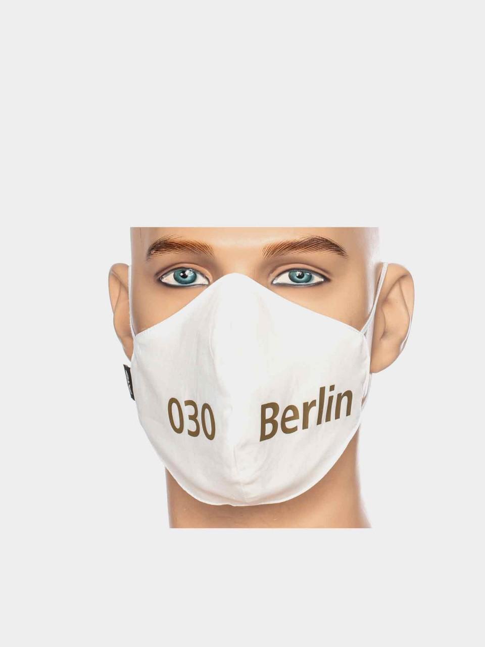Maske ATO Berlin BW weiß/gold