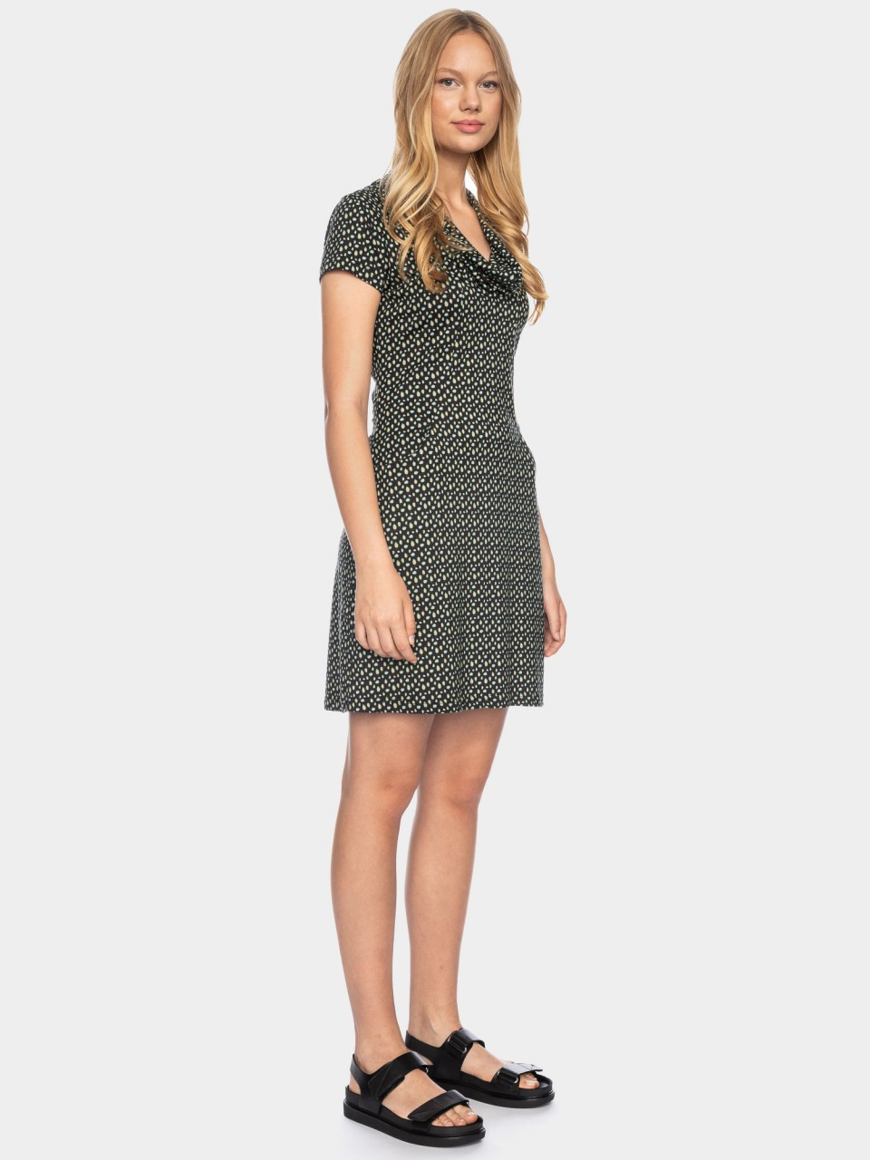 Kleid Erbse CLY/CO 14/044 BLK/GRN