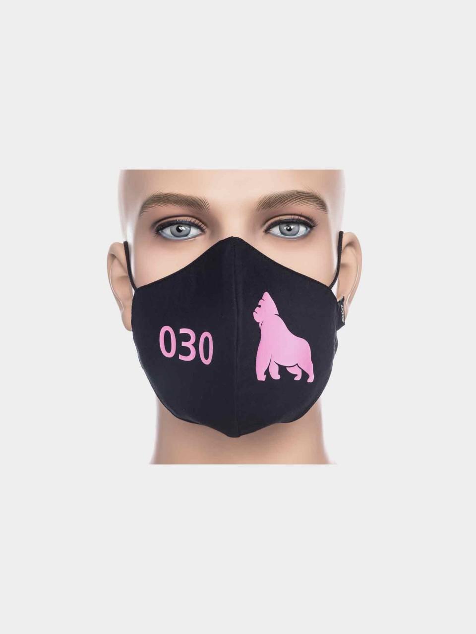 ATO Maske 030 Gorilla schwarz/pink