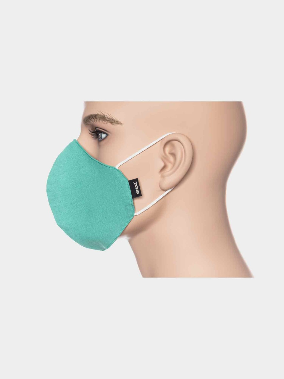 ATO Maske Uni Mintgrün aus Bio Baumwolle