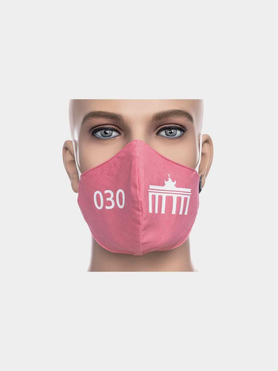 ATO Maske 030 Brandenburger Tor pink/weiß