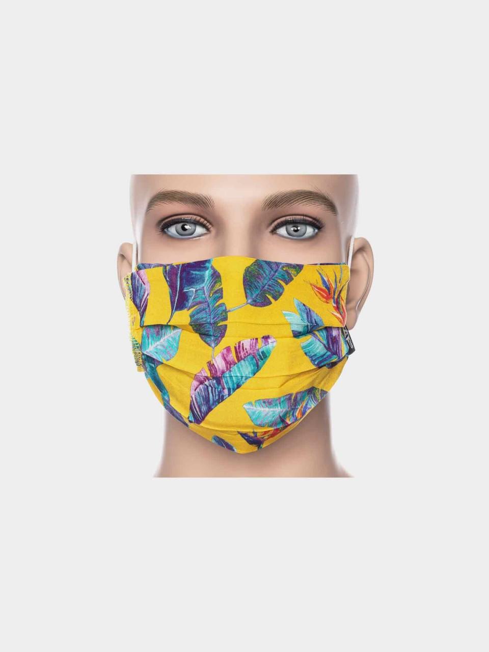 Maske ATO Feder gelb/blau
