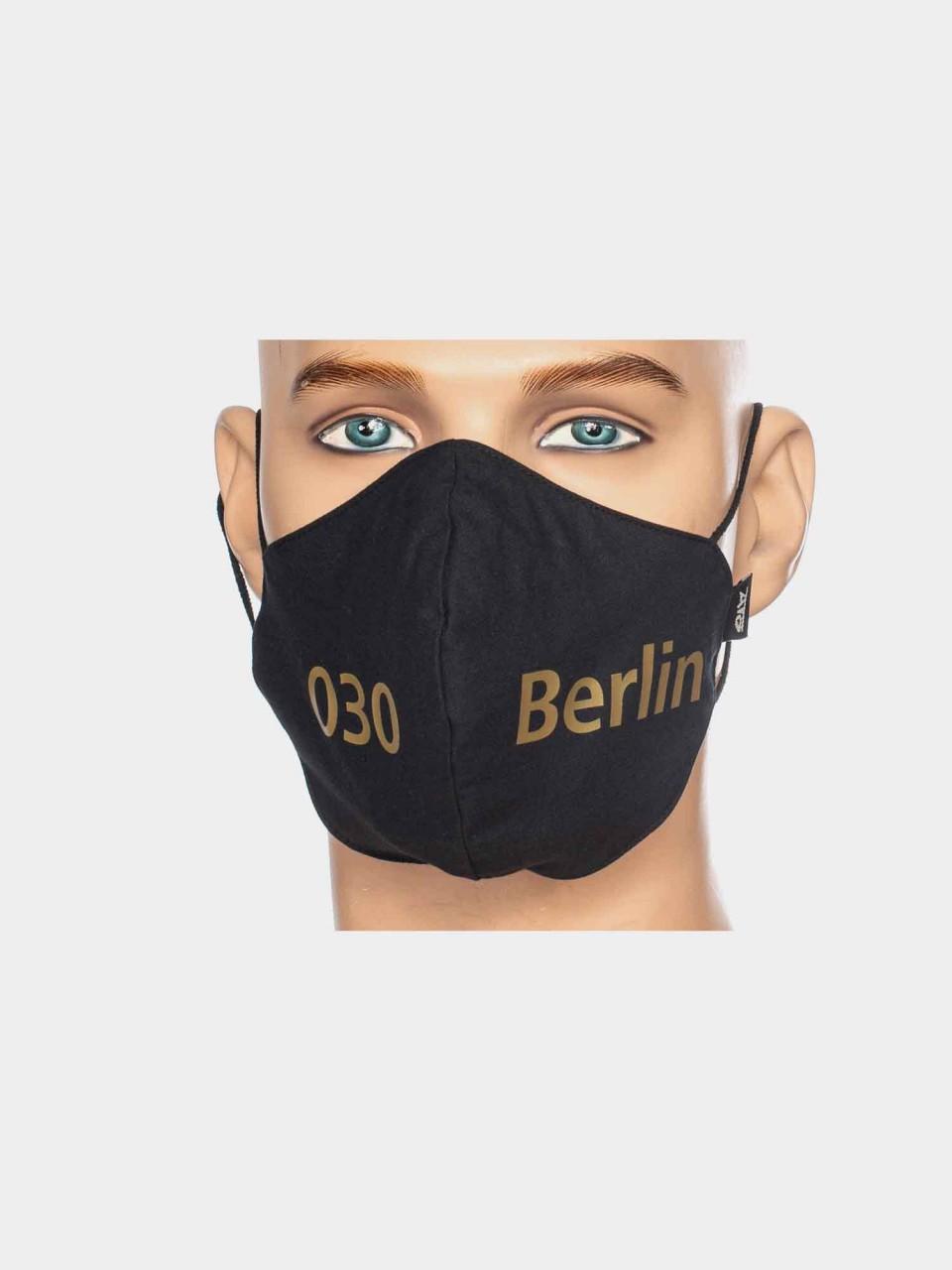 Maske ATO Berlin BW schwarz/gold