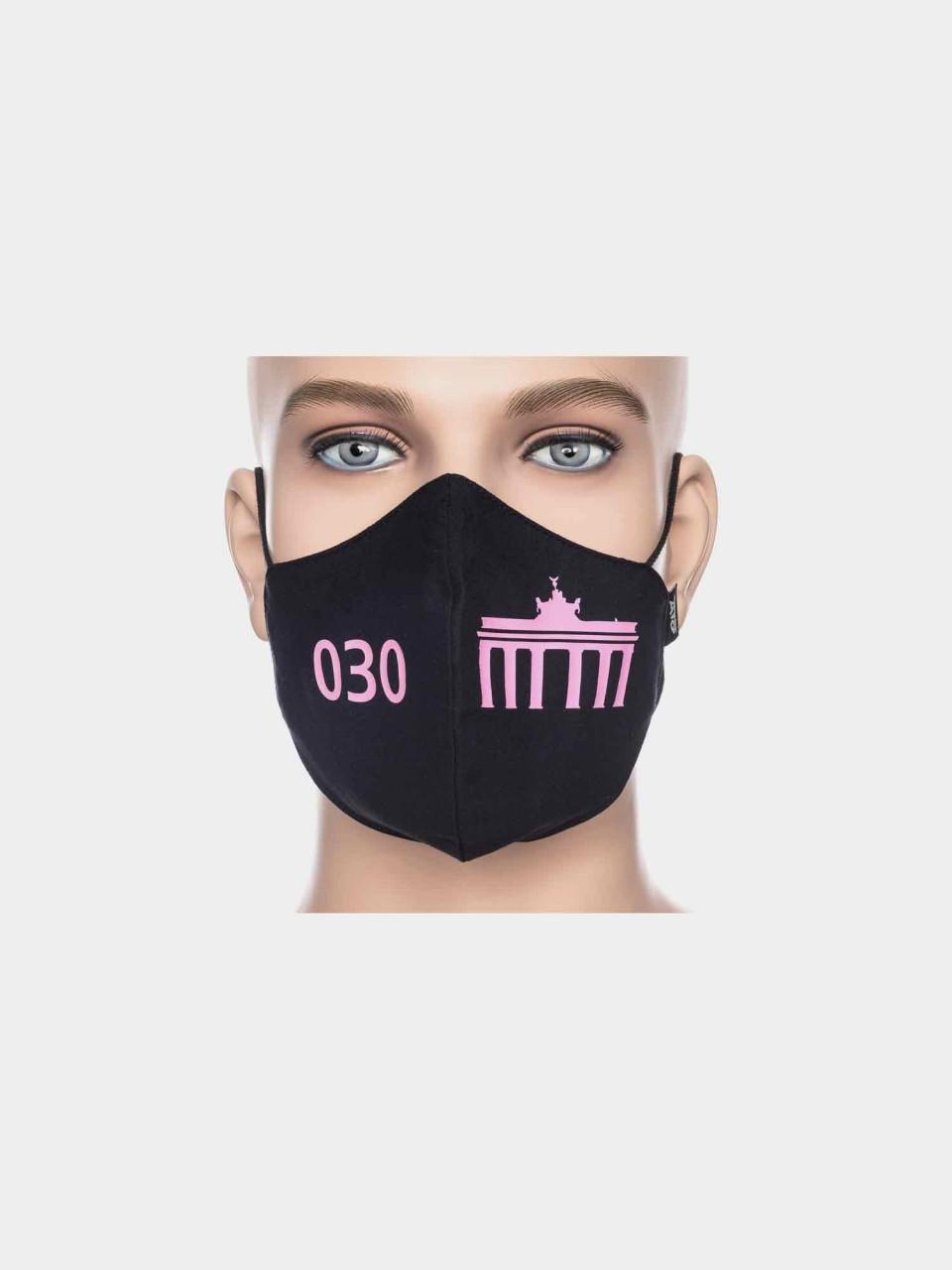 ATO Maske 030 Brandenburger Tor schwarz/pink