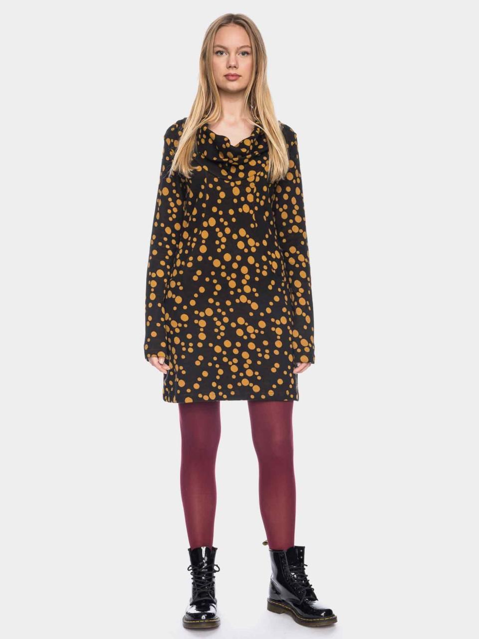 Kleid Halbmond GOTS CO 27/046 BLK/GBRN