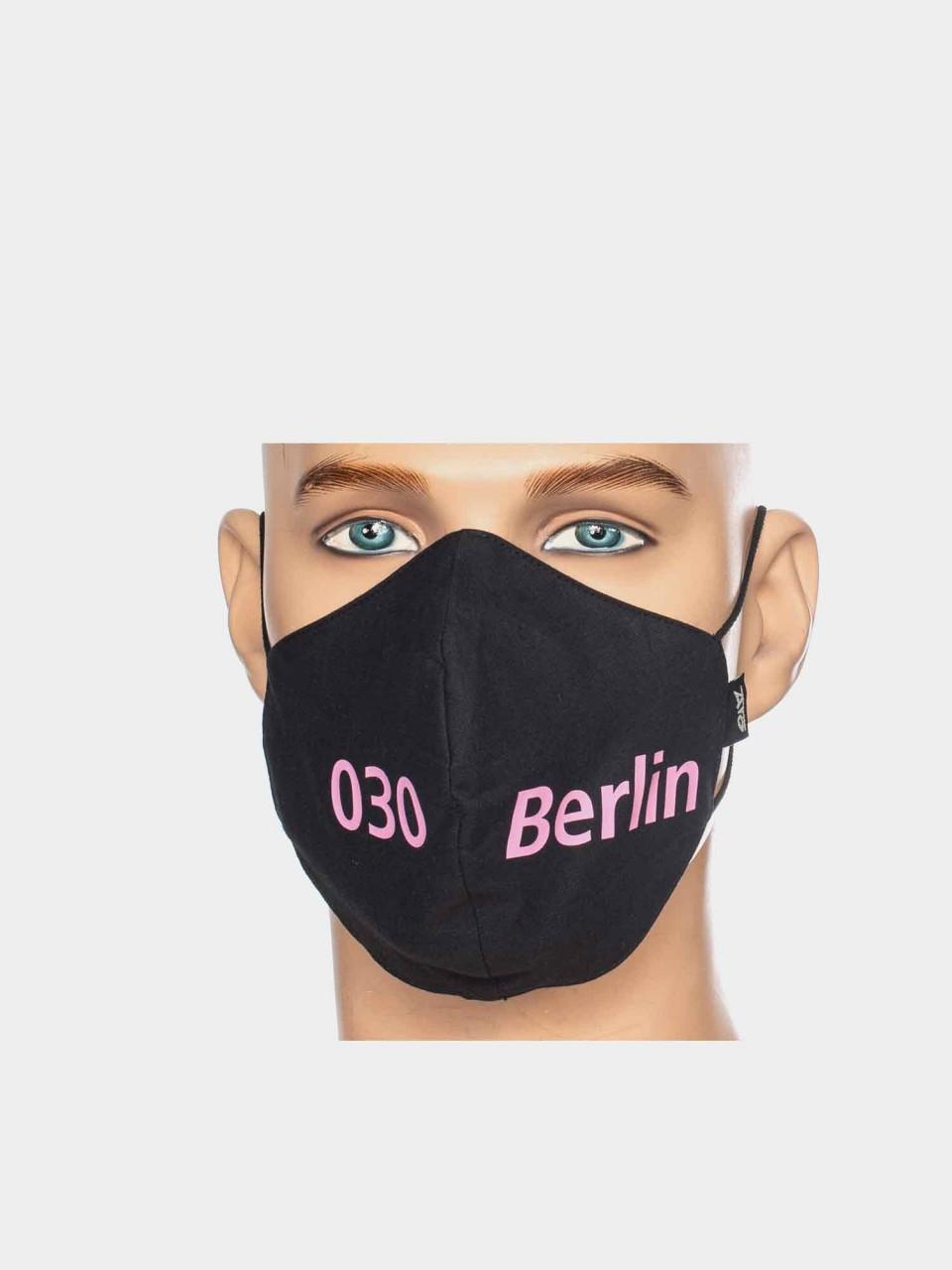Maske ATO Berlin BW schwarz/pink