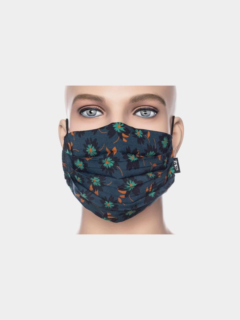 Maske ATO Blume dunkelblau