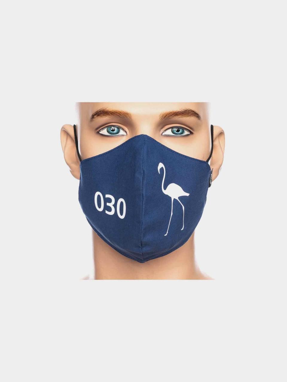 ATO Maske 030 Flamingo blau/weiß