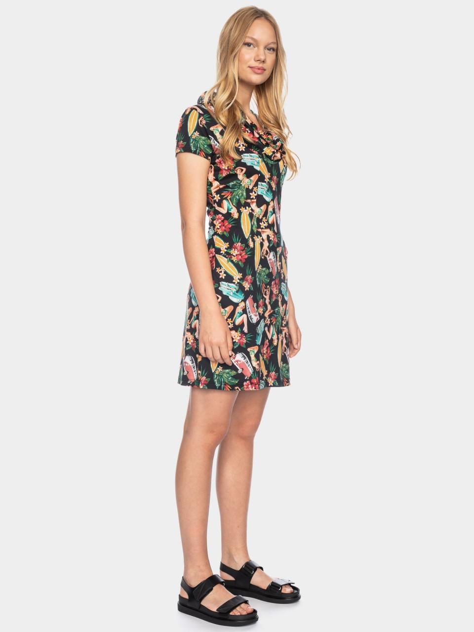 Kleid Erbse CLY/CO 14/043 BLK/MULTI