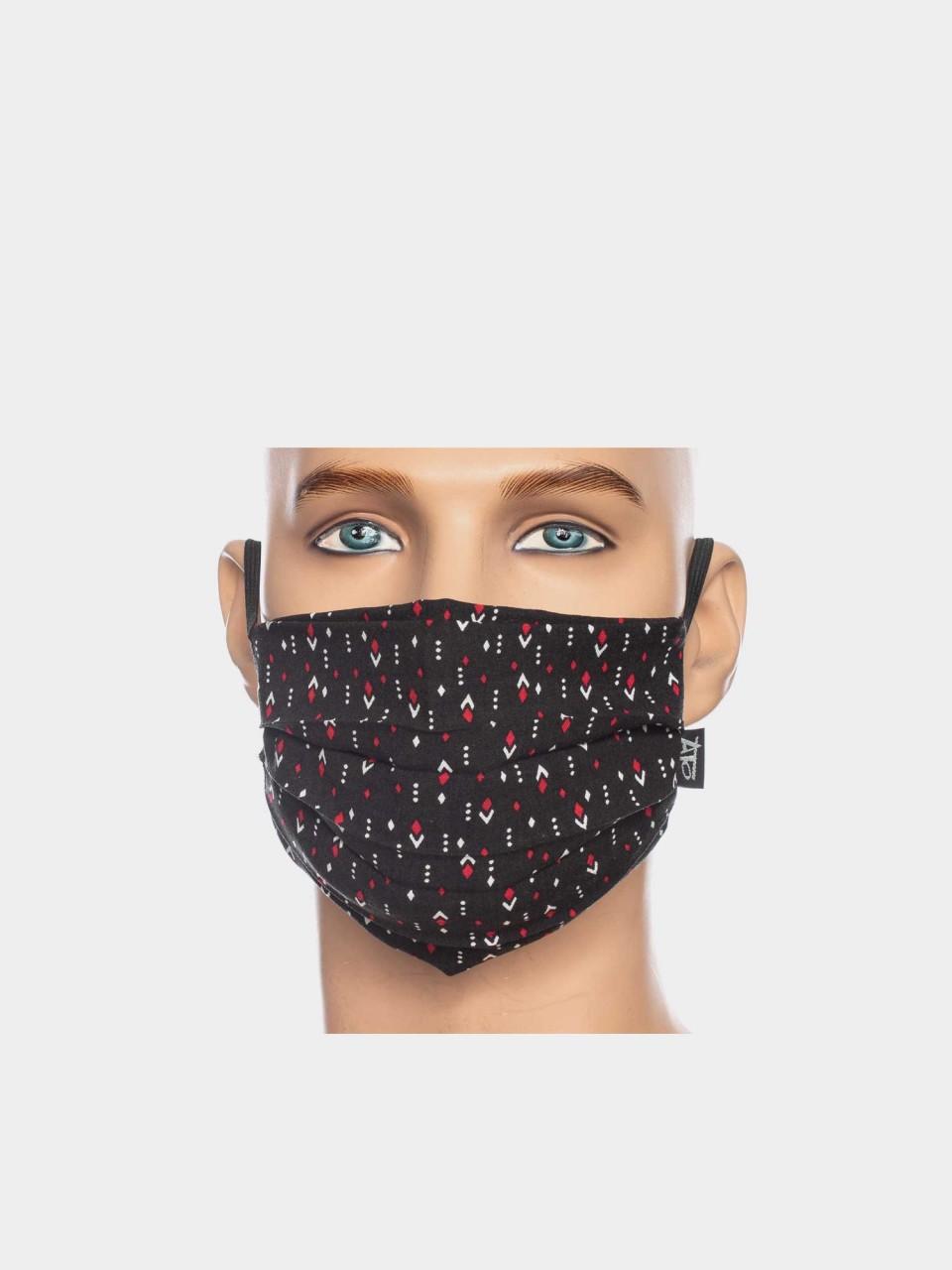 Maske ATO V/EL 1686 BLK/RD