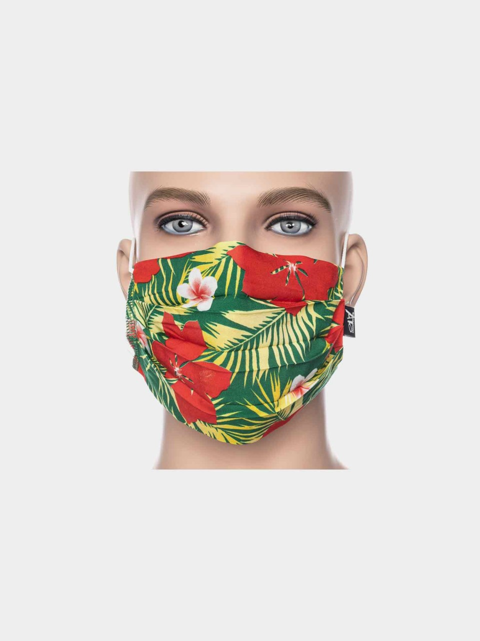 Maske ATO Jungle grün/rot/gelb