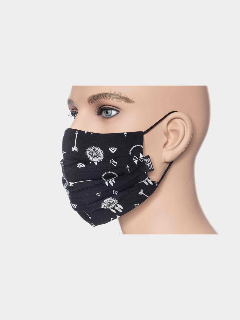 Maske ATO Träumer schwarz/weiß