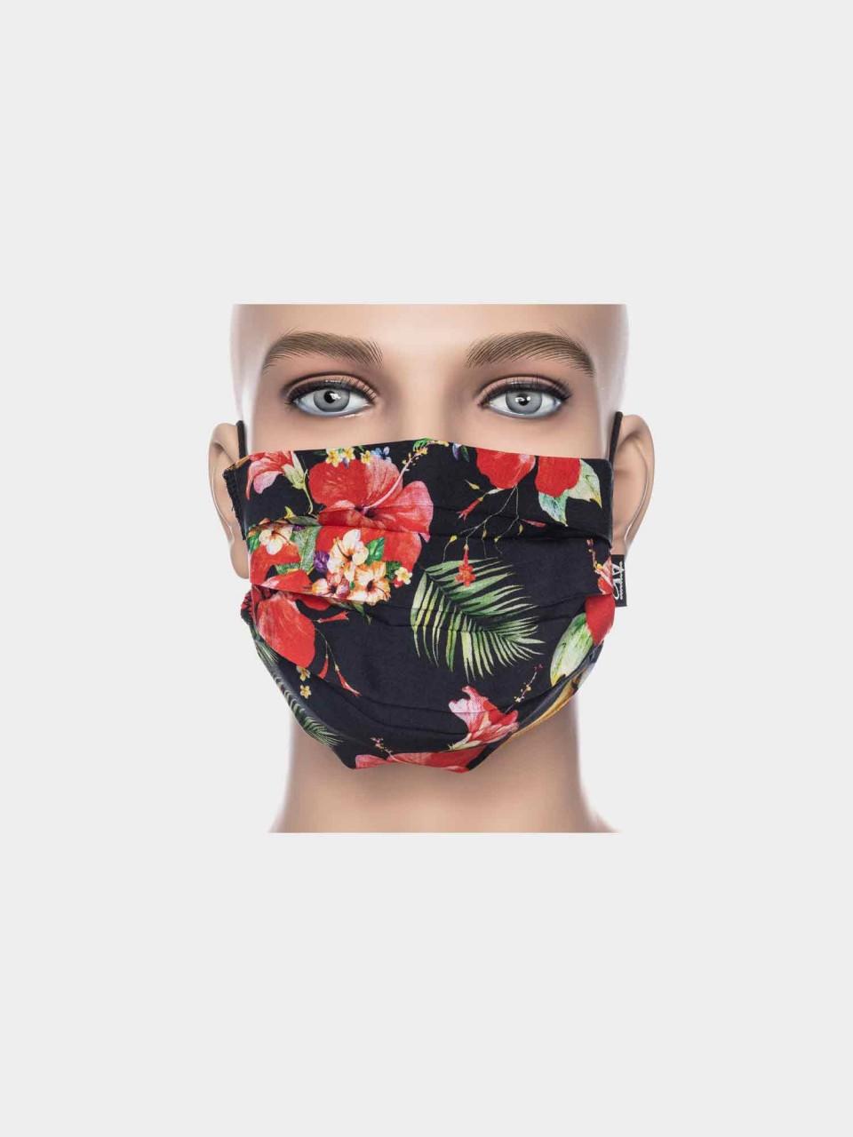 Maske ATO Hawai schwarz/rot