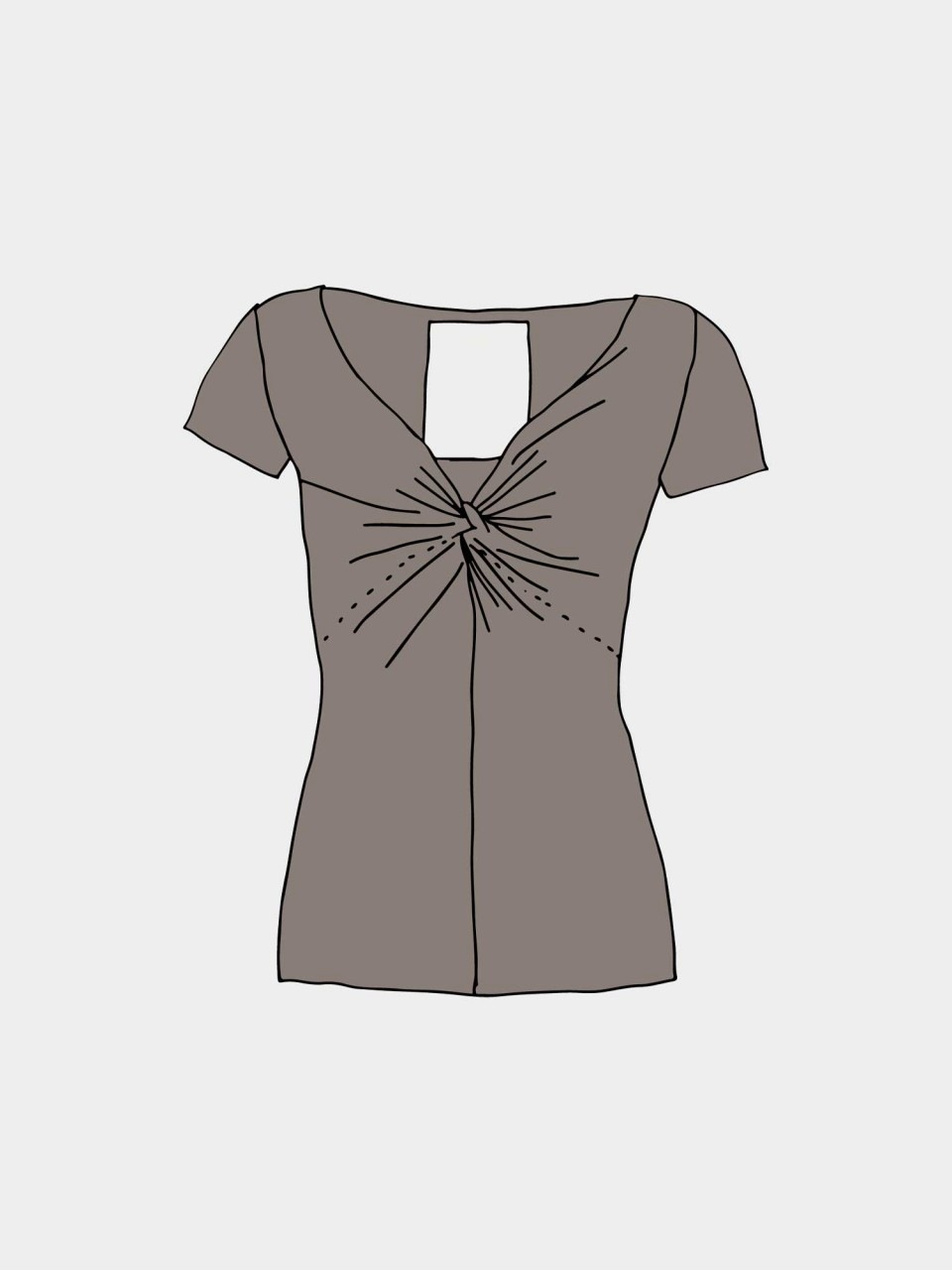 T-Shirt Angie OC GOTS CINDER