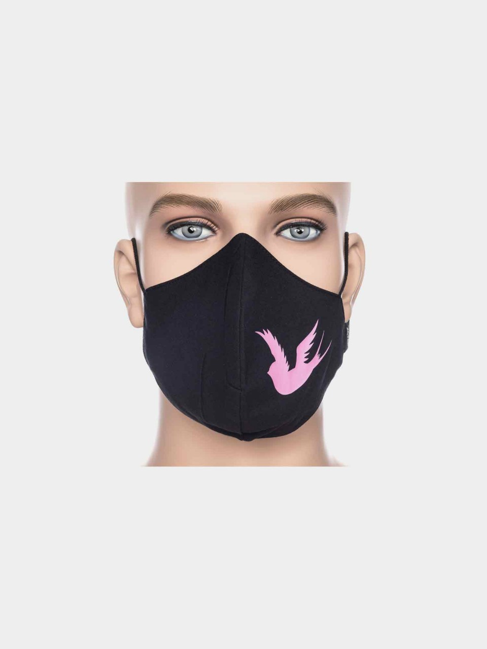 ATO Maske Schwalbe schwarz/pink
