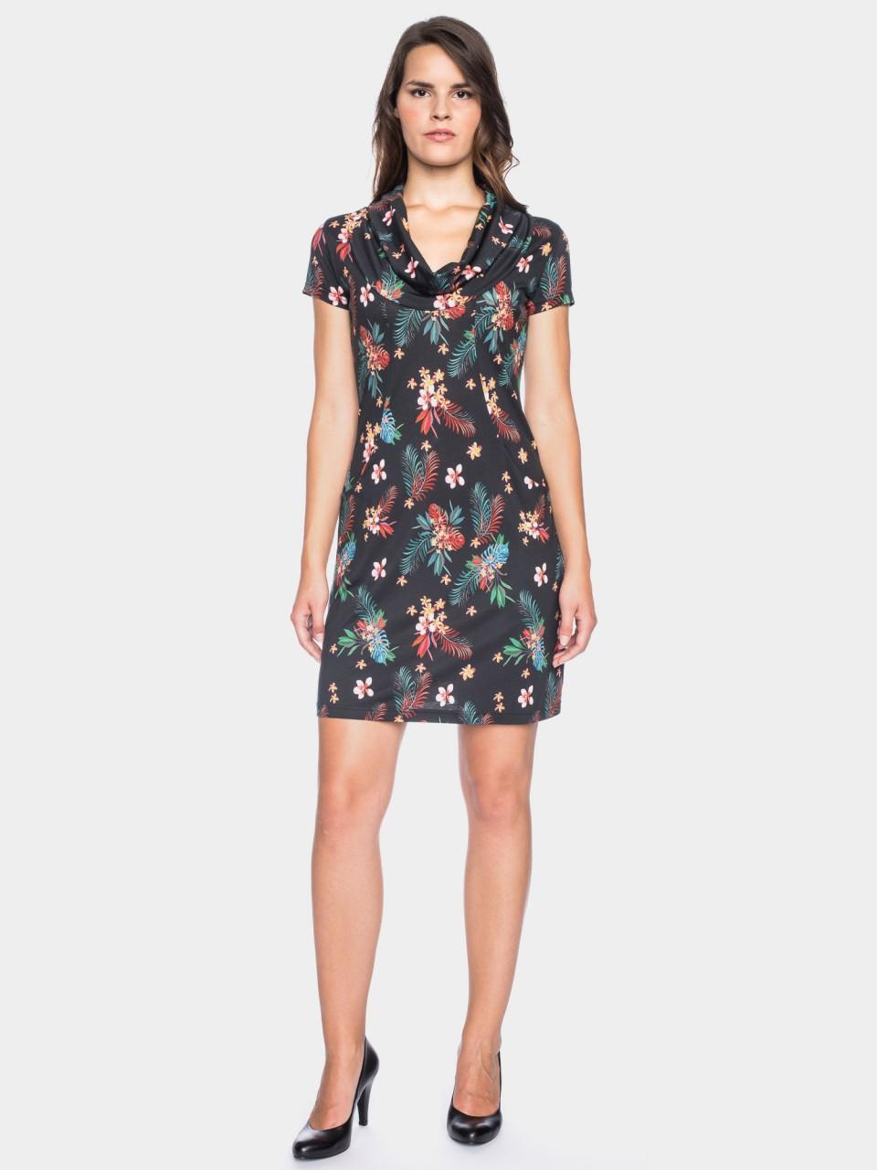 Kleid Erbse CLY/CO 14/024 BLK/MULTI